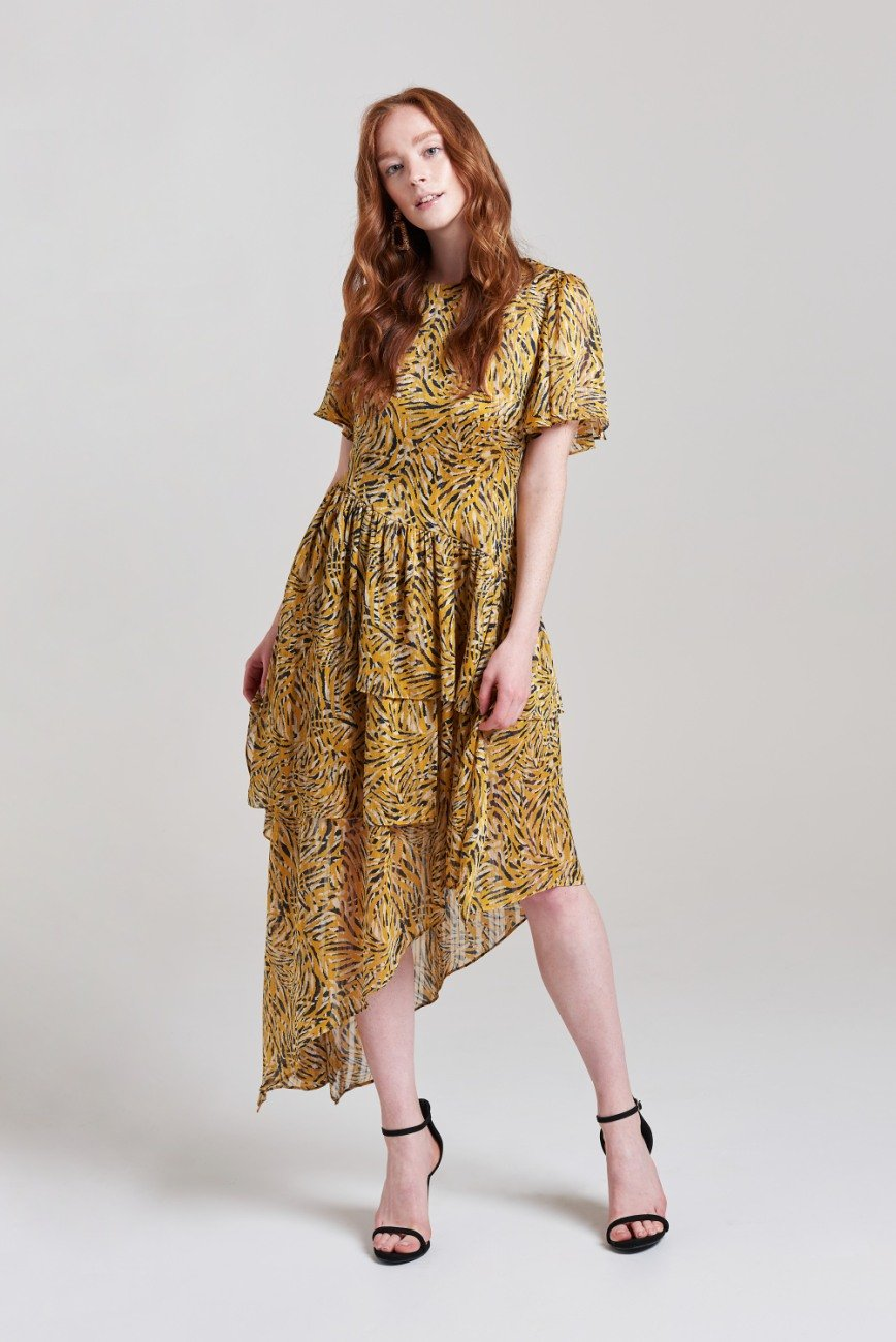 Debbie High Low Midi Dress