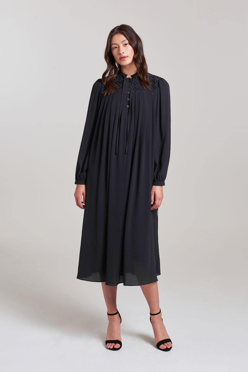 Load image into Gallery viewer, Palones Barbican Smocking Shirt Dress