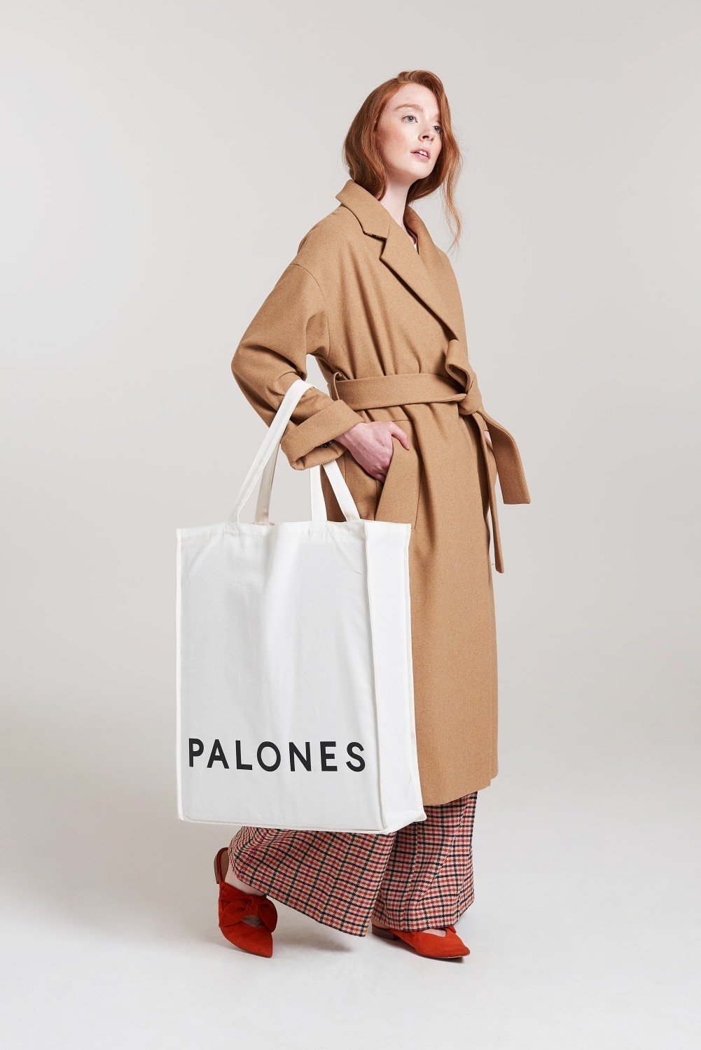 Load image into Gallery viewer, Palones Camel Belted Robe Coat