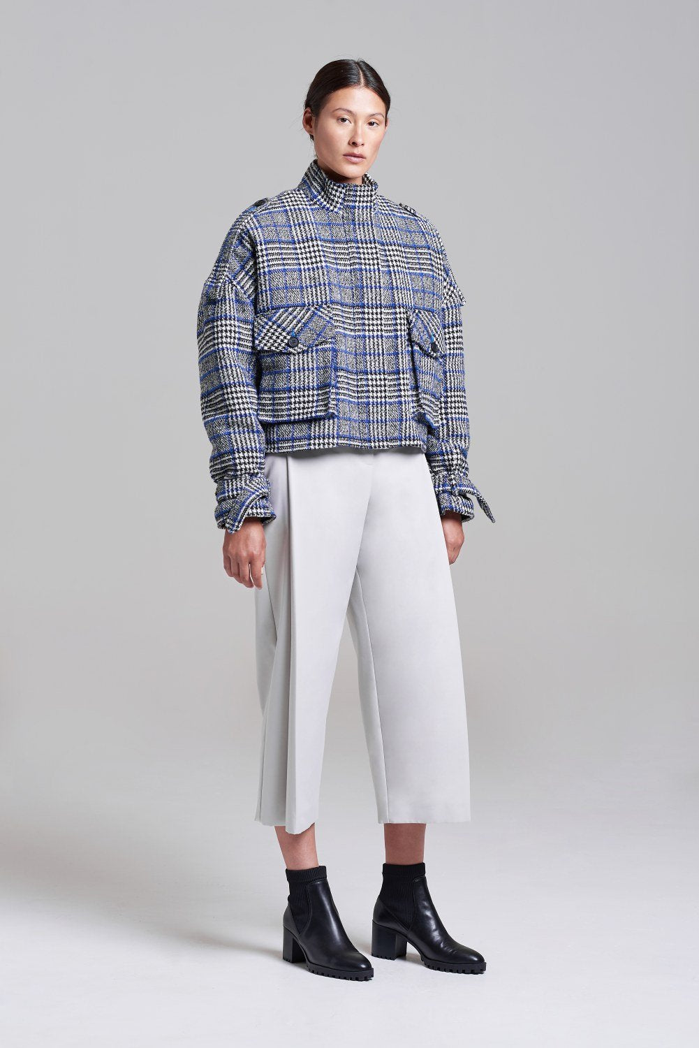 Load image into Gallery viewer, Aspen Cropped Oversized Utility Coat