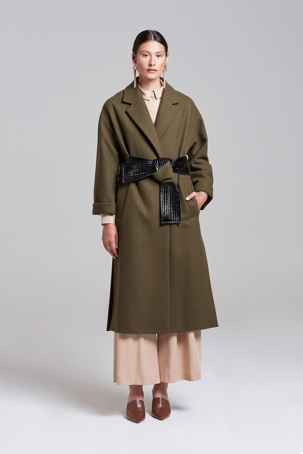 Load image into Gallery viewer, Palones Belted Robe Coat