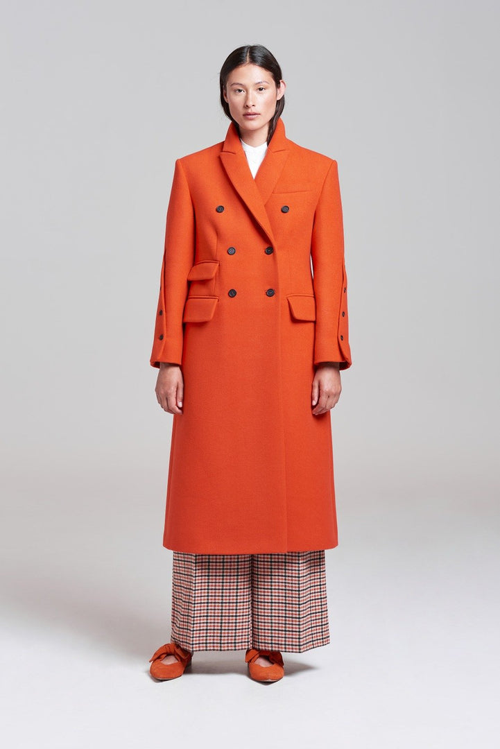 Palones Wool Mix Orange Scarlett City Coat