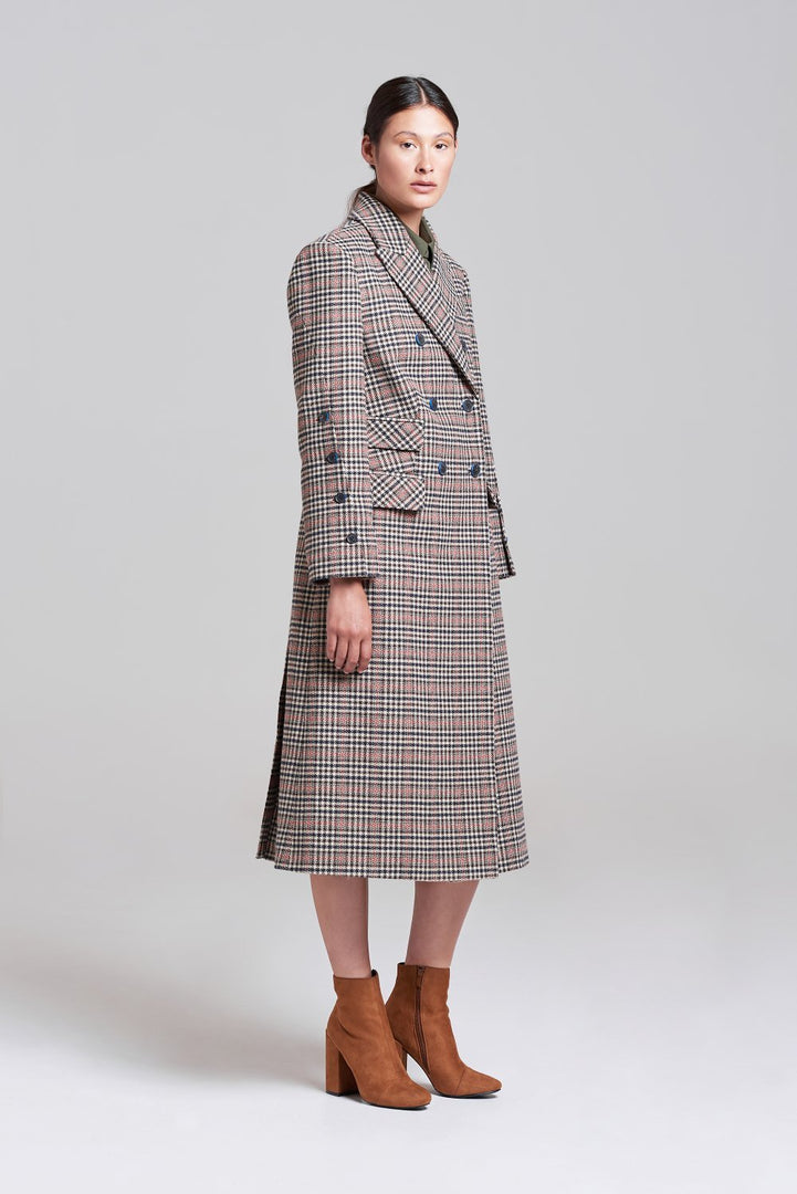 Palones Wool mix Check Kensington City Coat