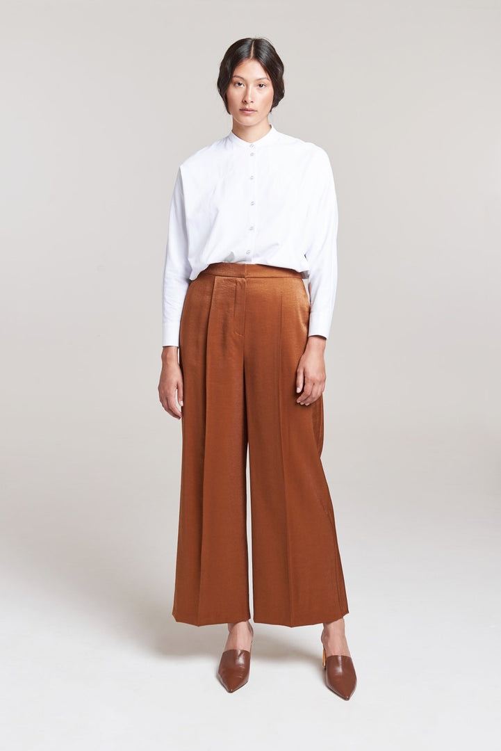 Palones Brown Fluid Wide Leg Trouser
