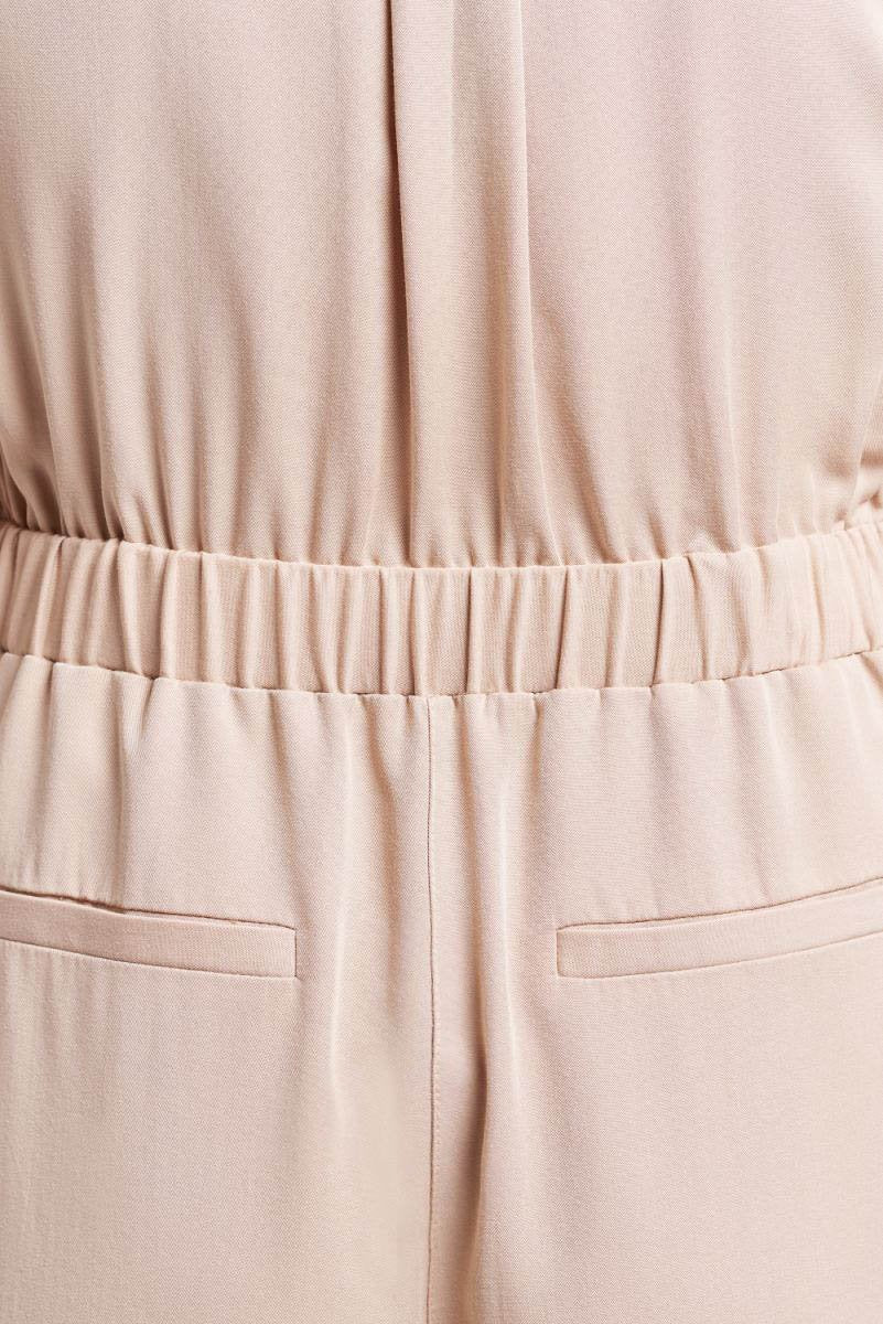 Load image into Gallery viewer, Palones Tan Pleated Belted Jumpsuit