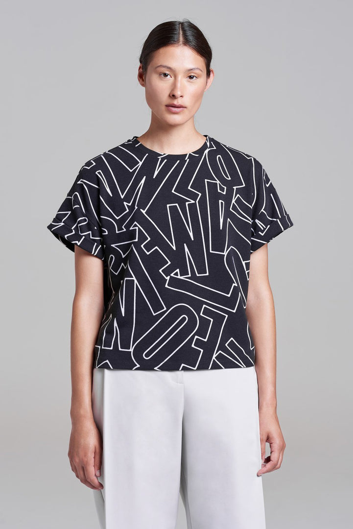 Palones Black and White Palones Printed T-shirt