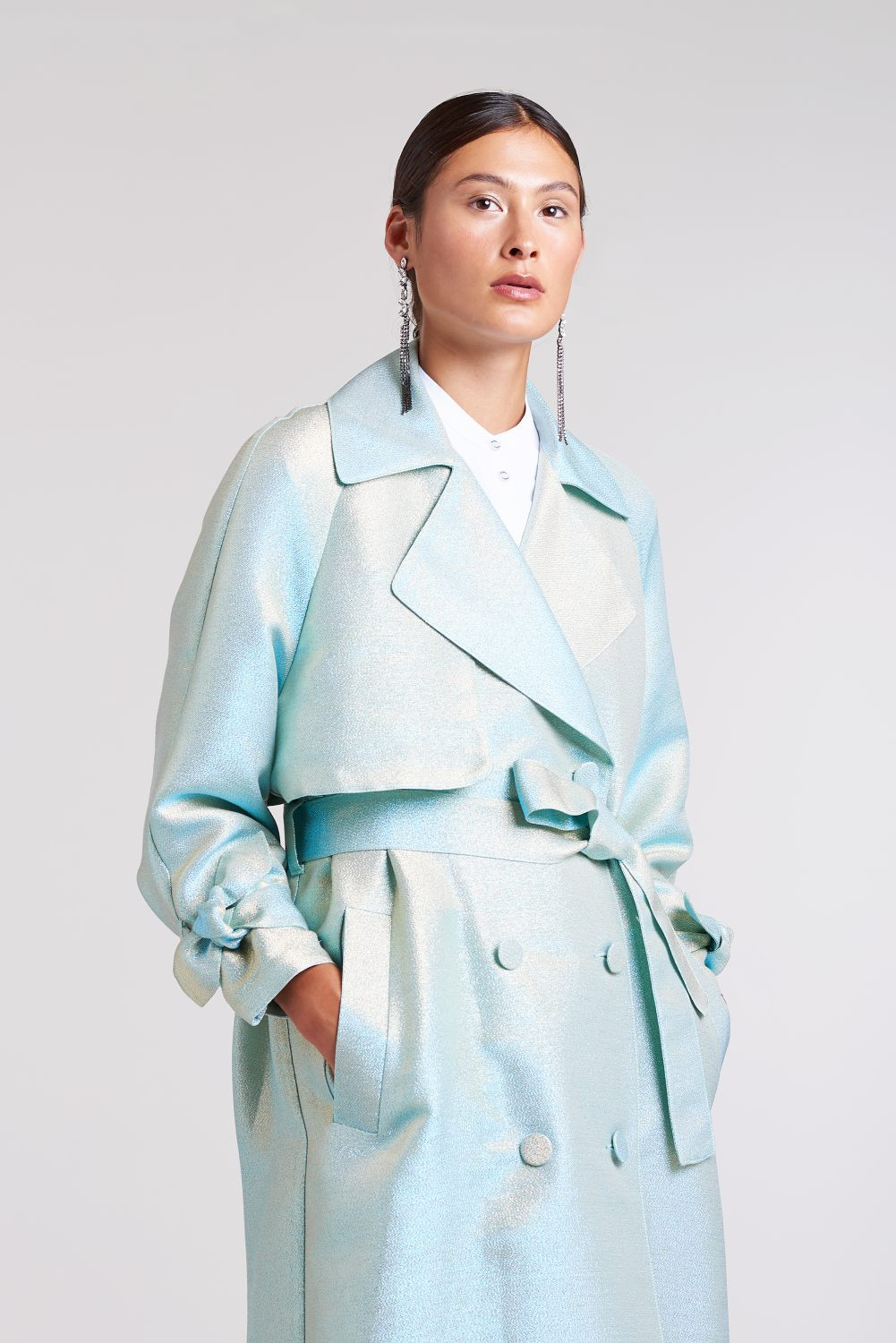 Load image into Gallery viewer, Palones Mint Luna Iridescent Duster