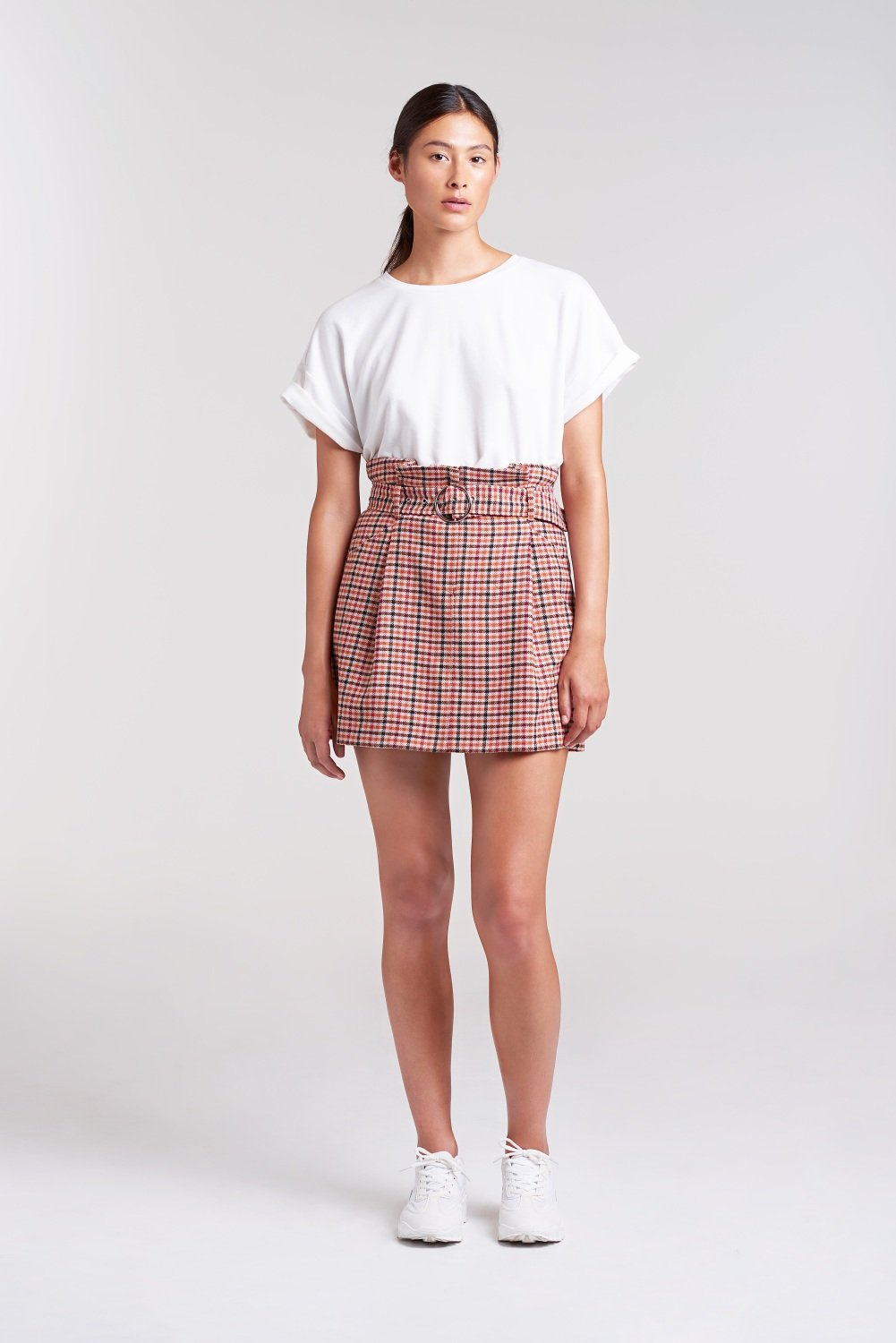 Palones Check High Waisted Mini Skirt