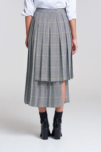 London Fields High Low Pleated Skirt