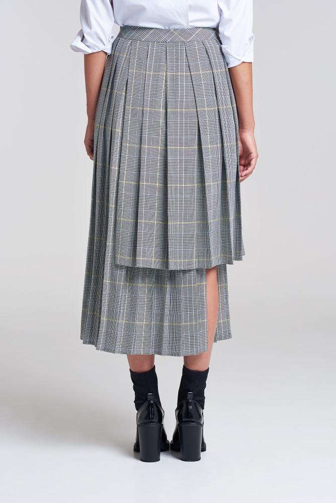 Load image into Gallery viewer, London Fields High Low Pleated Skirt