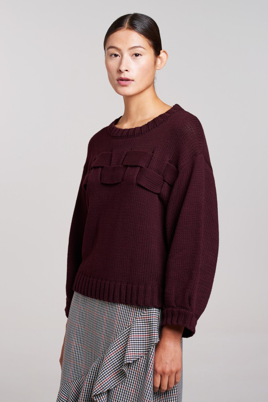Load image into Gallery viewer, Burgundy Weave Knit - Palones