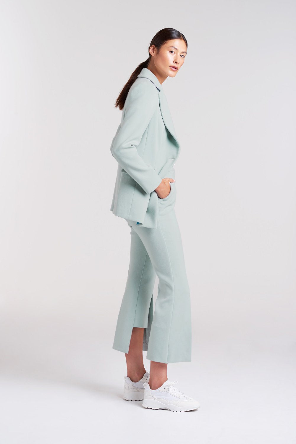 Load image into Gallery viewer, Palones Mint Haggerston Kick Flare Trouser