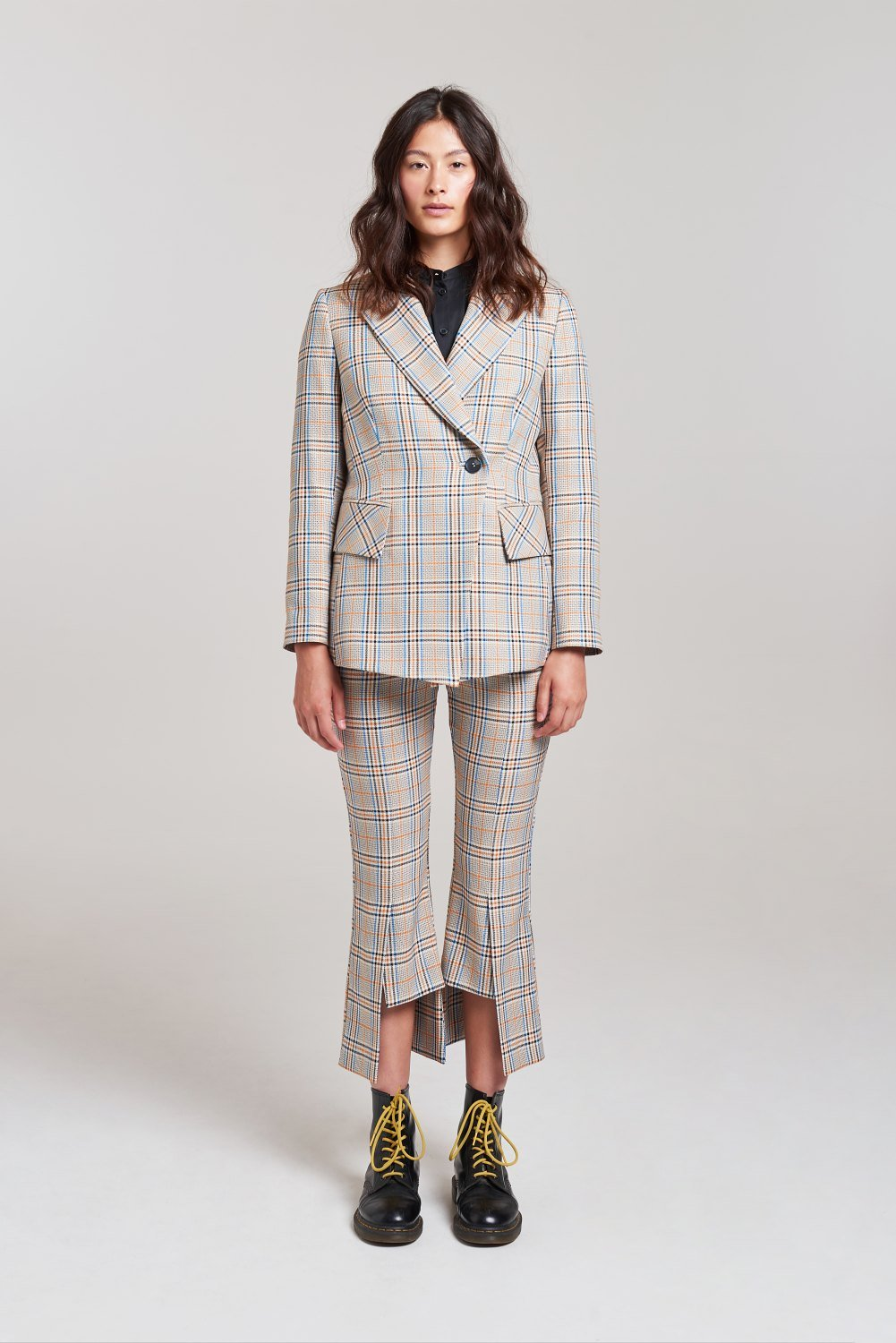 Palones Check Hoxton Kick Flare Trouser