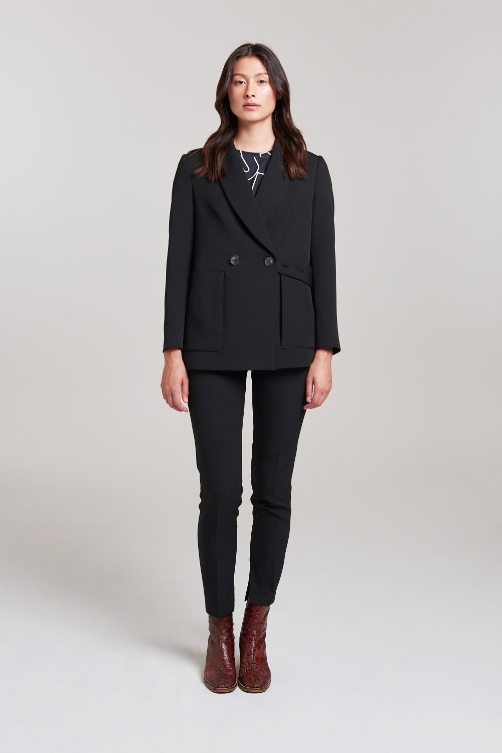 Tab Open Back Blazer