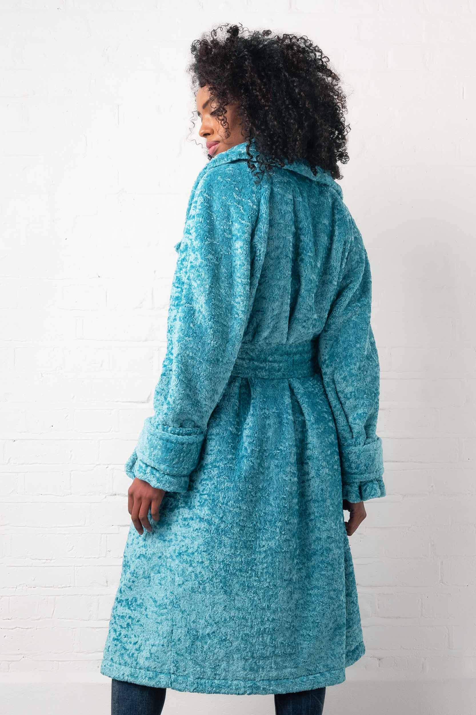 Load image into Gallery viewer, Palones Paddington Fur Trench in Icy Blue