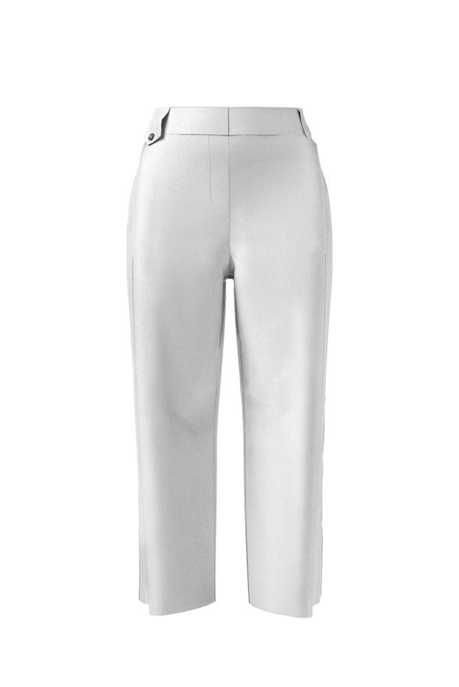 Palones Barnaby Pleat Peg Pale Grey Trousers