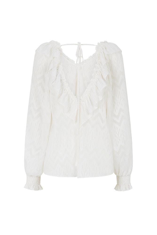 Load image into Gallery viewer, Palones Ivory Covent Garden Ruffle Collar Blouse