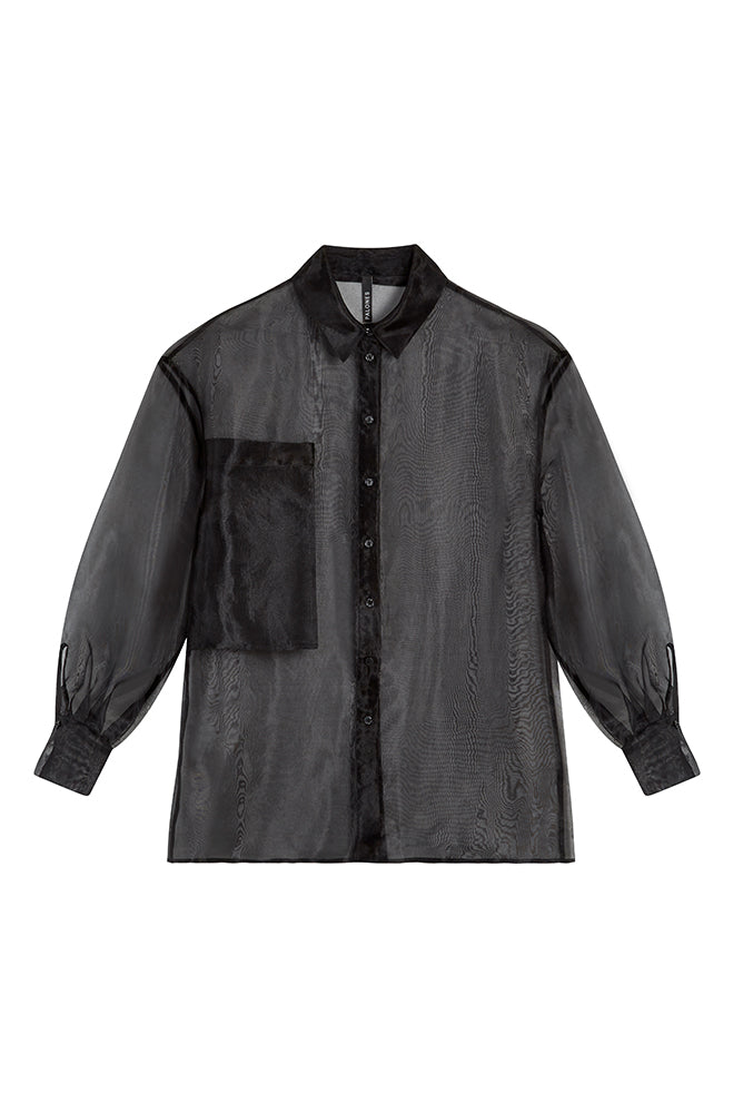 Load image into Gallery viewer, Palones Debbie Black Organza Shirt