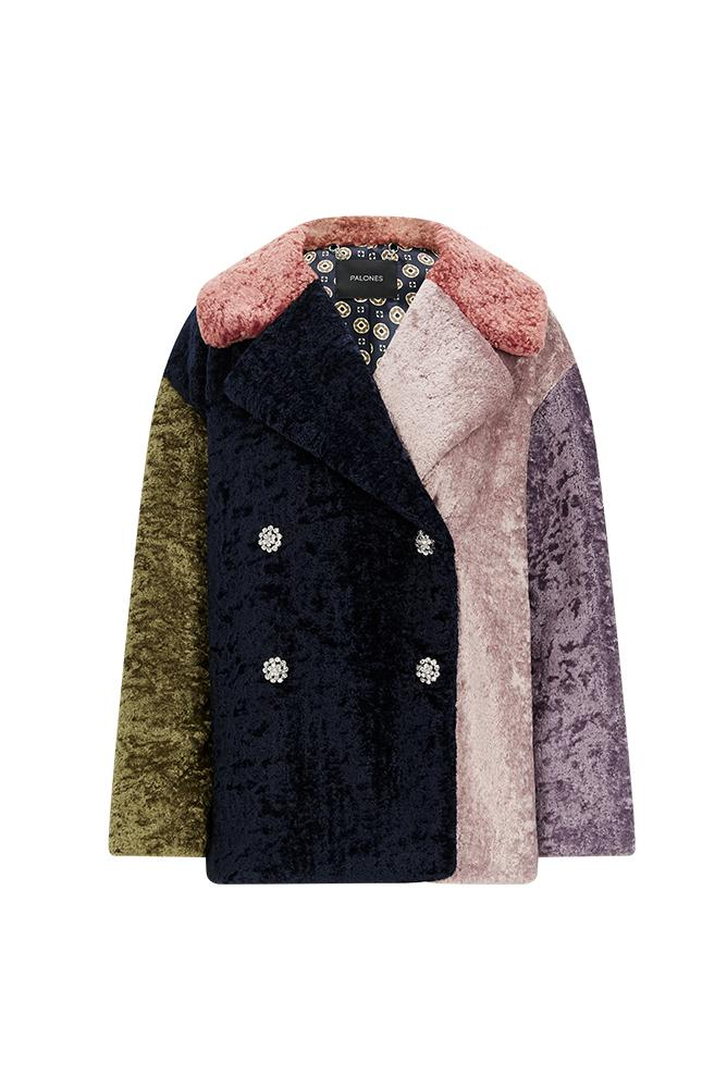 Palones Multi Coloured Debbie Teddy Coat