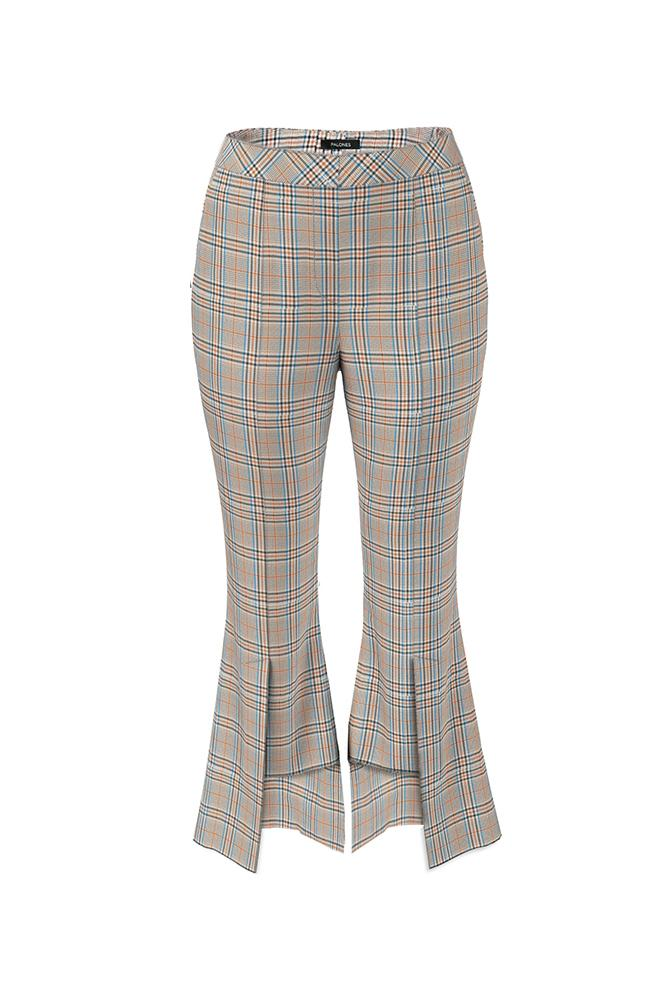 Load image into Gallery viewer, Palones Hoxton Kick Flare Check Trouser