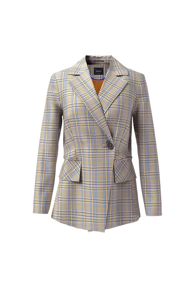 Palones Hoxton Pleat Back Check Blazer