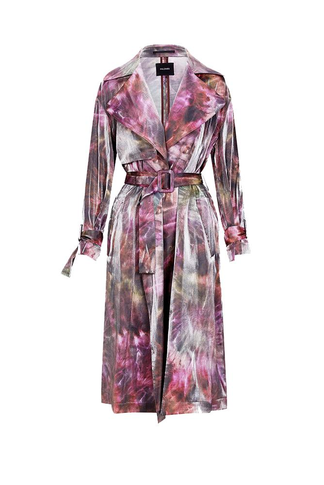 Load image into Gallery viewer, Palones Luna Cross Back Tie Dye Pink Trench