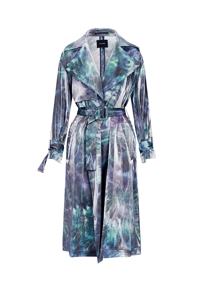 Palones Luna Cross Back Tie Dye Blue Trench