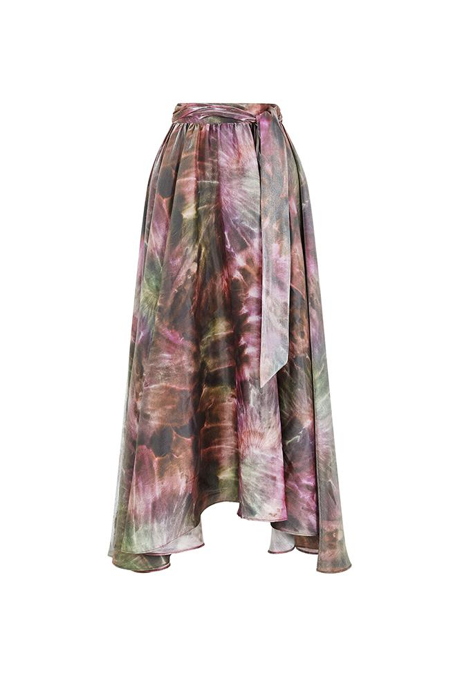 Load image into Gallery viewer, Luna Tie Dye Maxi Pink Skirt