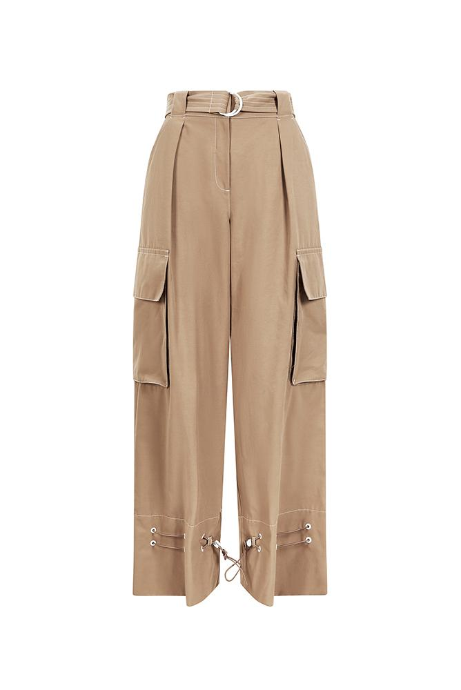 Palones Beige Notting Hill Utility Trouser