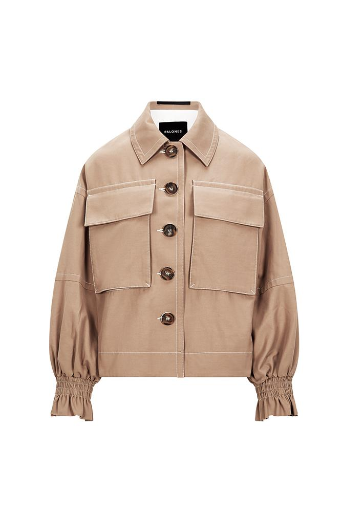 Load image into Gallery viewer, Palones Oversized Frill Cuff Utility Jacket