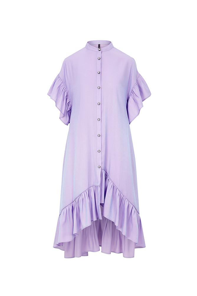 Load image into Gallery viewer, Palones Skye Ruffle Shimmer Dress