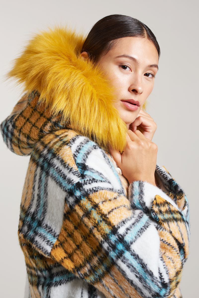 Palones Yellow and Blue Kimmi Duffle Coat