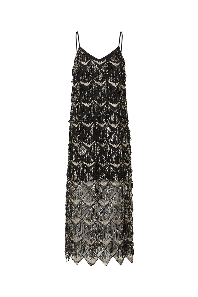 Palones Black and Gold Palones Lisa Sequin Dress