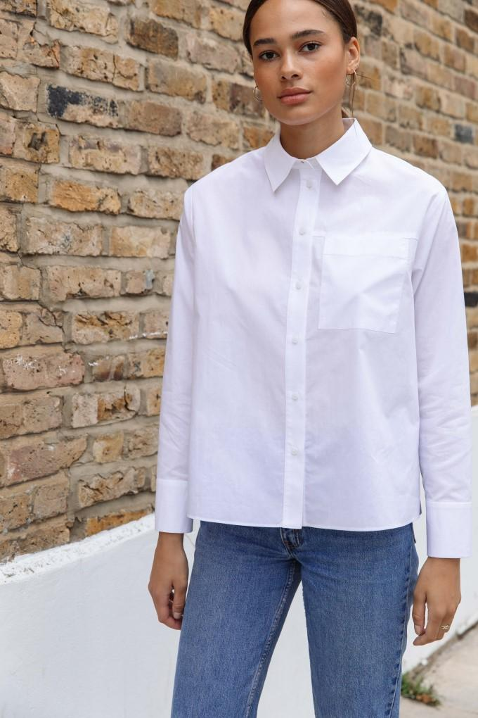 Palones White Wrap Back Poplin Shirt