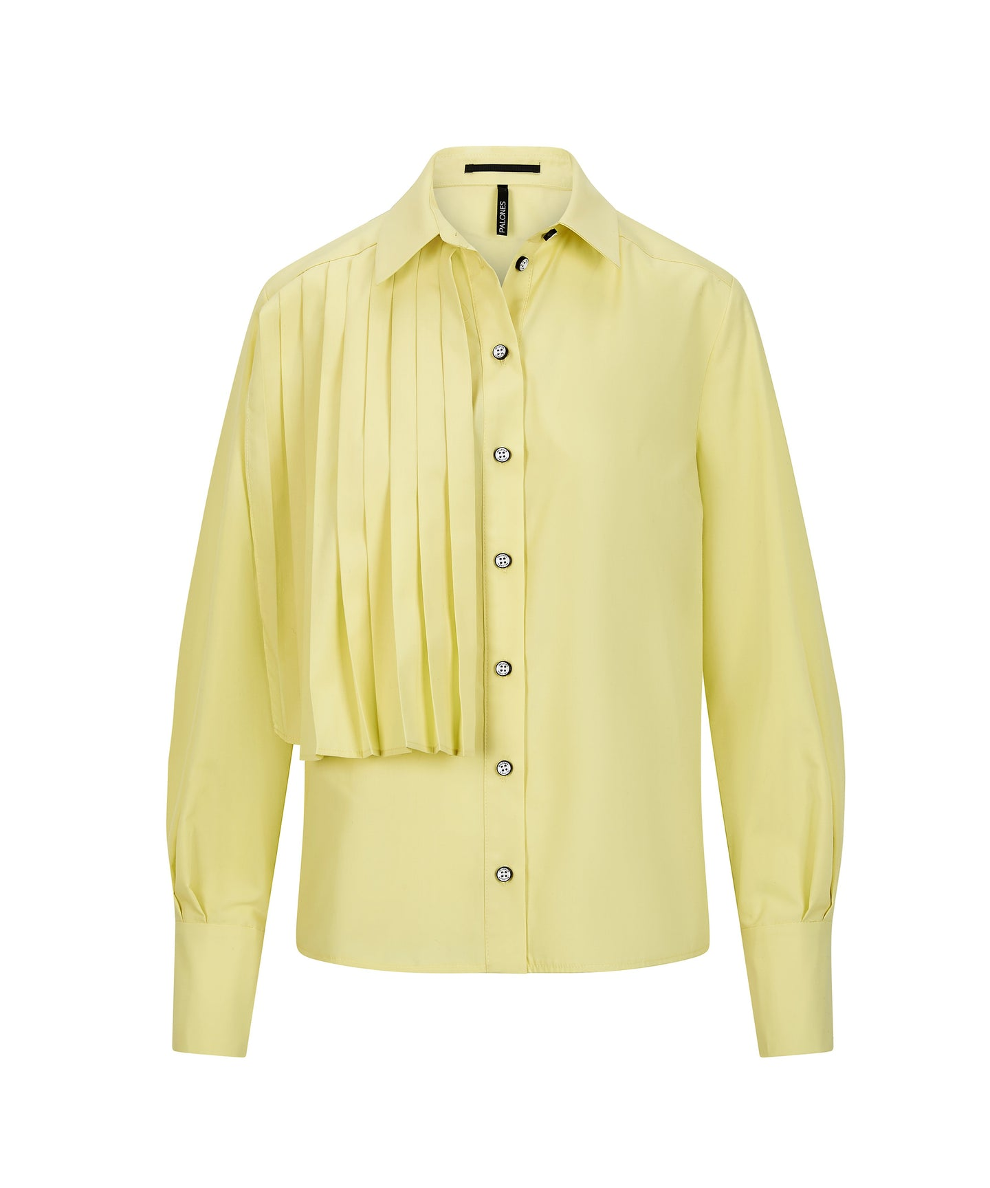 Load image into Gallery viewer, Palones Lemon Pleated Overlay Shirt