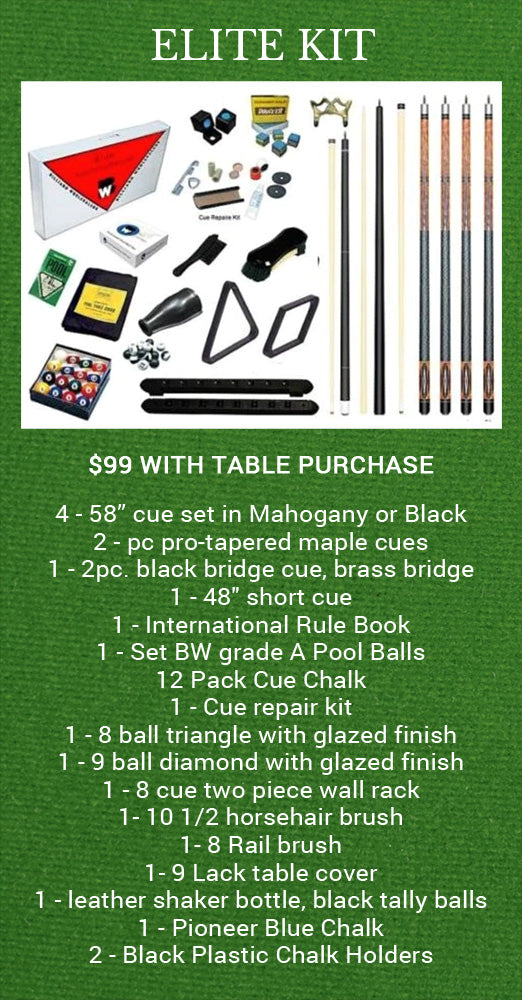 Elite Pool Table Kit