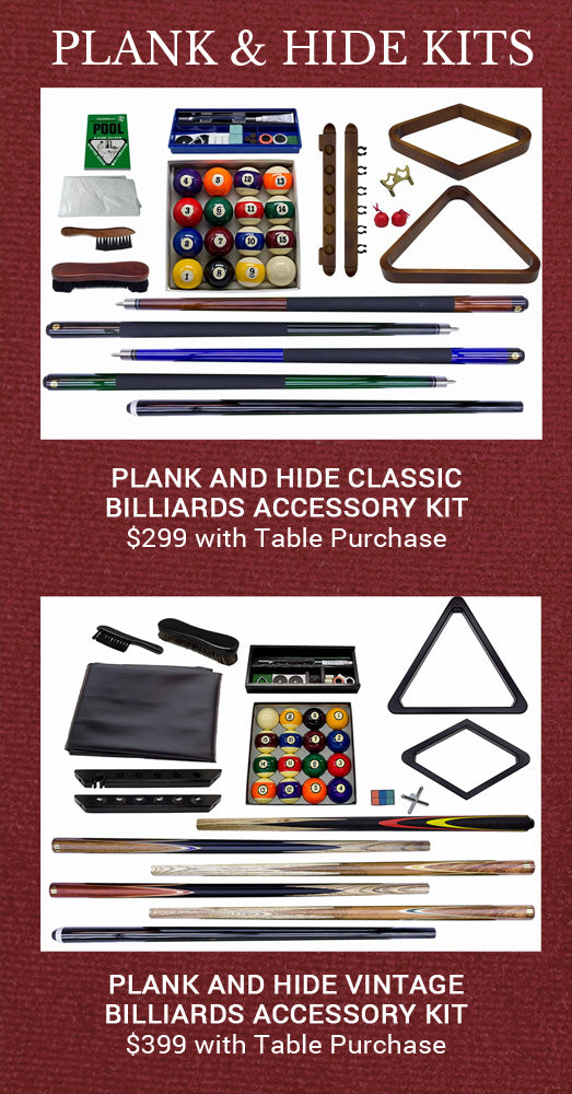 Plank and Hide Pool Table Kit