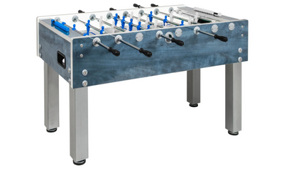 GARLANDO G-500 DARK BLUE WEATHERPROOF FOOSBALL TABLE