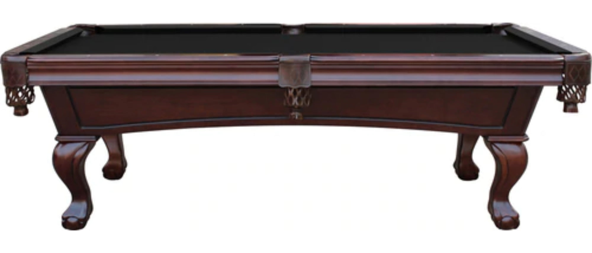 Charles River Slate Pool Table w/ Leather Drop Pockets, Espresso