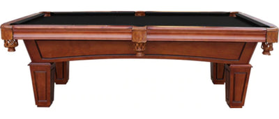 St. Lawrence Slate Pool Table w/ Leather Drop Pockets
