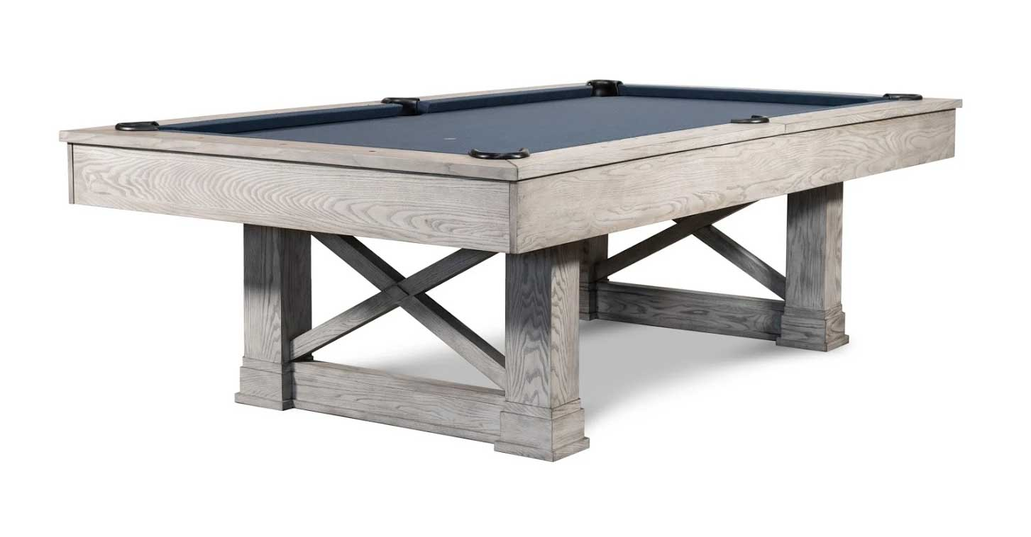 Agriturismo Pool Table in White Wash