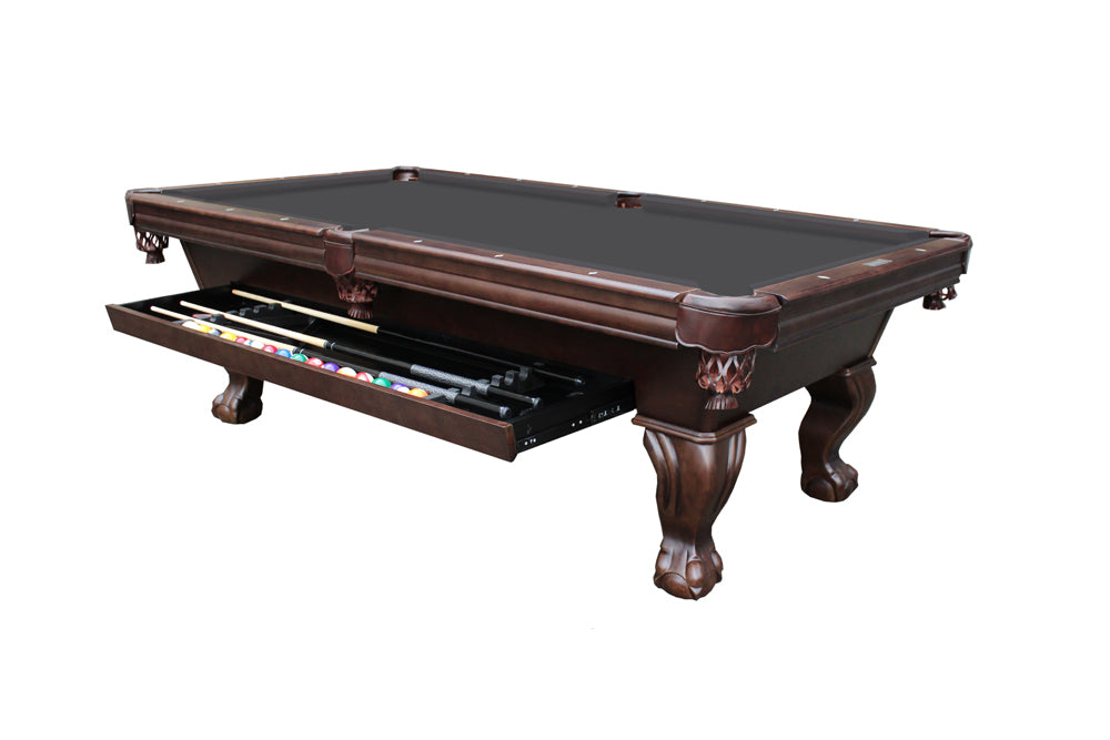 Dixon Pool Table with Storage Drawer in Cocoa
