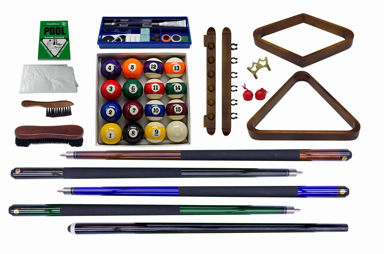 Plank and Hide Classic Billiards Accessory Kit