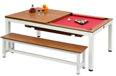 Glacier 7' Pool Table with Dining Top
