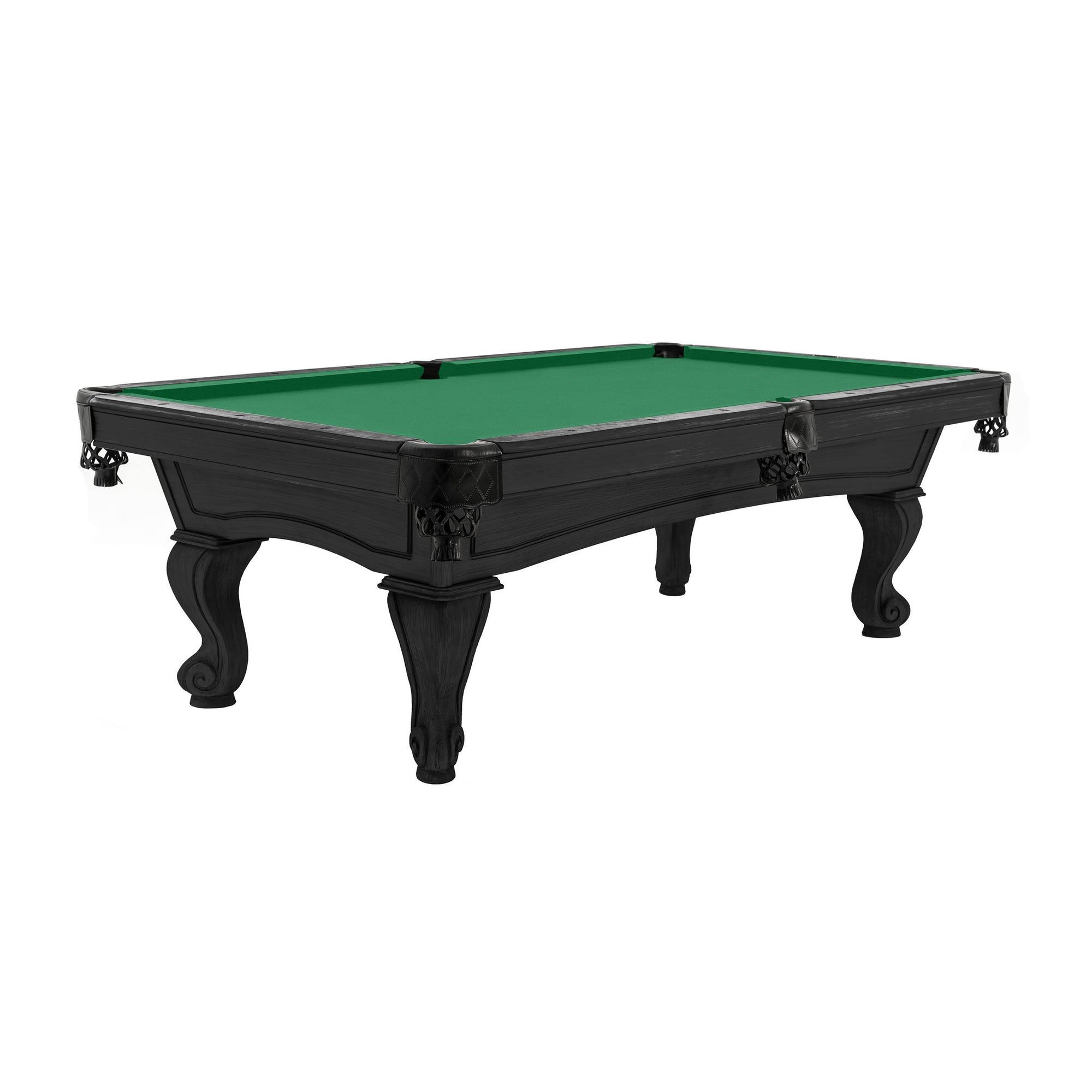 The Resolute Pool Table, Kona with Rams Horn Legs