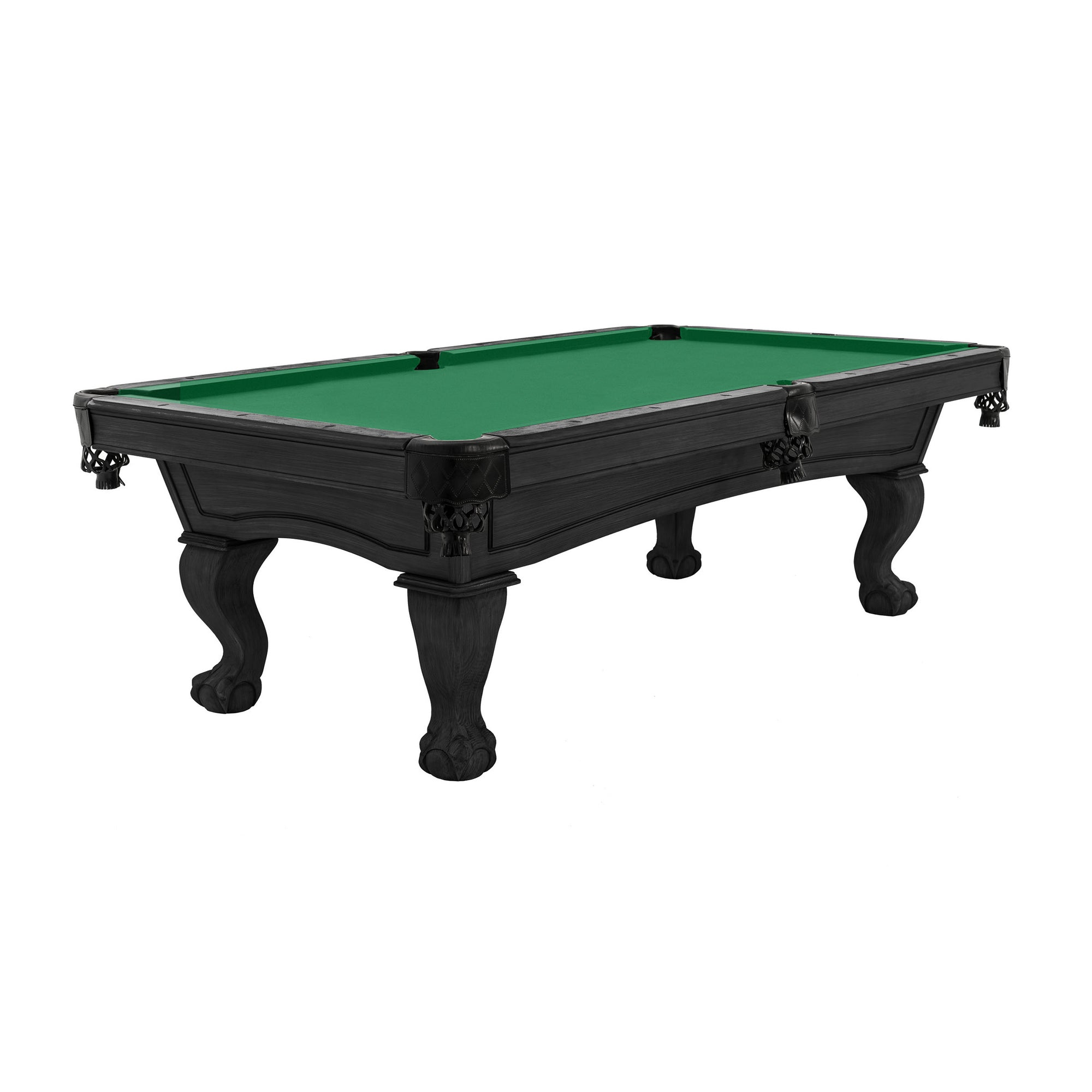The Resolute Pool Table, Kona with Ball and Claw Legs
