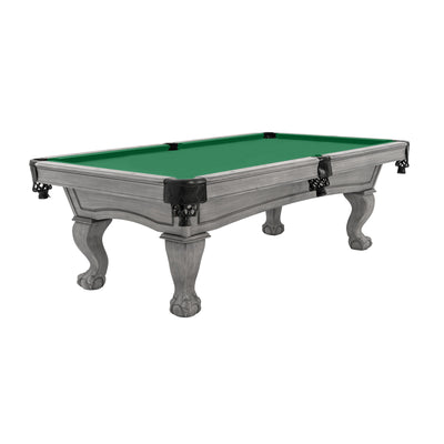 The Resolute Pool Table, Silver Mist with Ball and Claw Legs