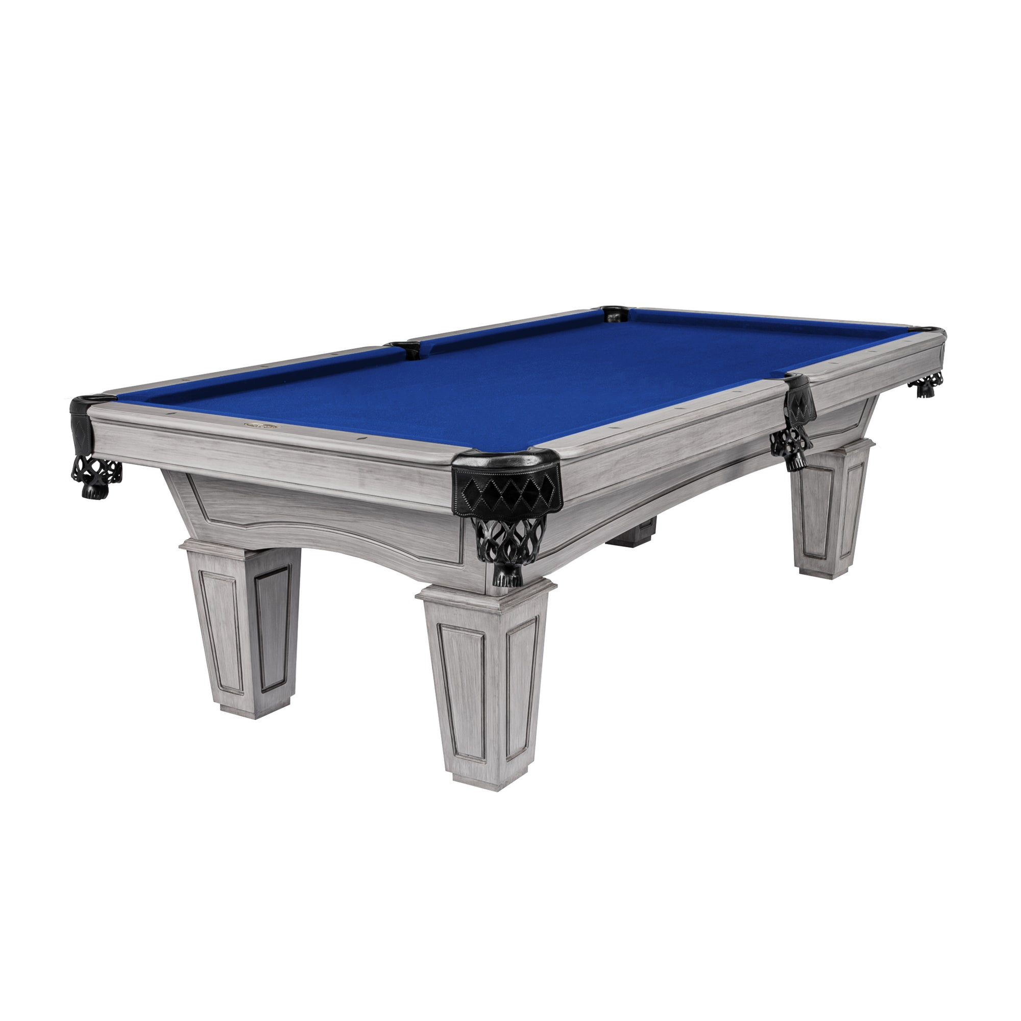 The Resolute Pool Table, Silver Mist with Tapered Box Legs
