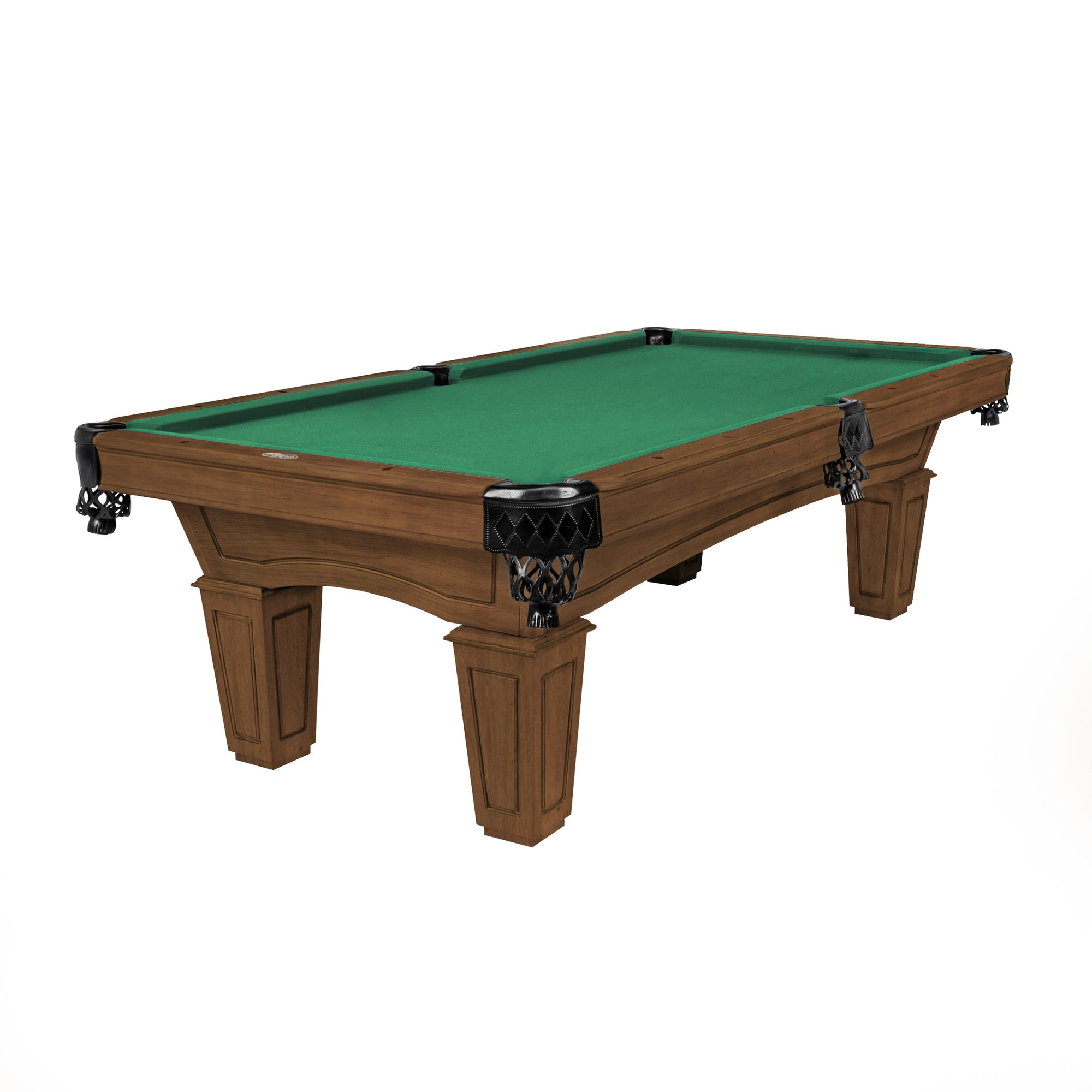 The Resolute Pool Table, Whiskey with Tapered Box Legs