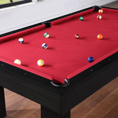 The Brookline 8ft Pool Table with Storage Drawer, Black